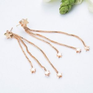 Jewelry - 3/$20...Gold Star Double Sided Drop Earrings